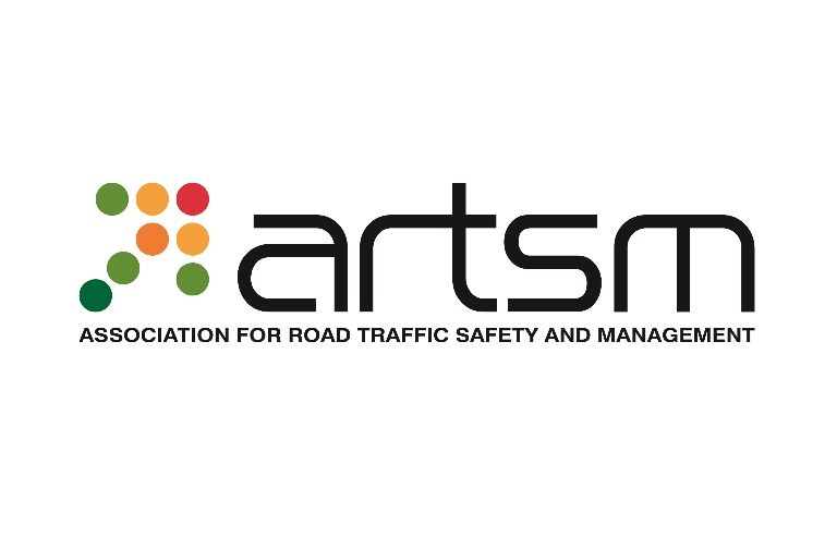 Association for Road Traffic Safety and Management logo, traffic light coloured arrow